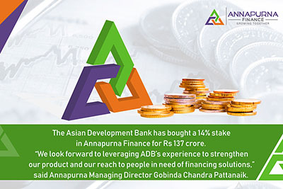 ADB buys 14% Stake in Annapurna Finance