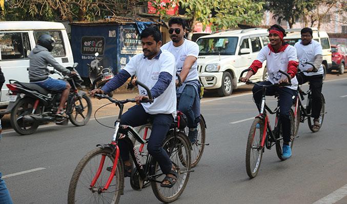 Celebrating 150th Birth Anniversary of Mahatma Gandhi, a mega cyclothon event was organized