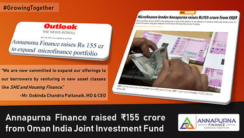 Annapurna Finance Raises Rs 155 cr to Expand Microfinance Portfolio