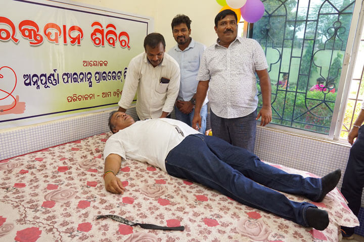 Noble Cause: Our Honourable MD Mr. Gobinda Chandra Pattanaik donating blood
